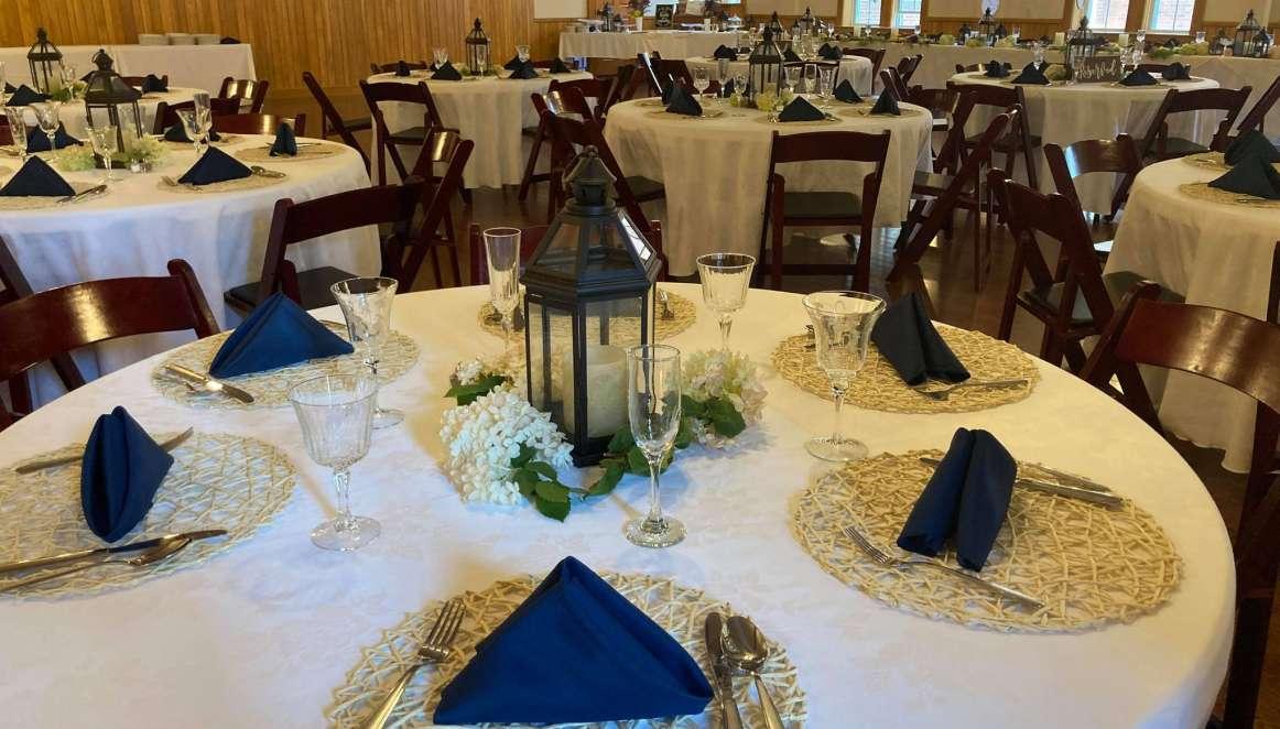 chc wedding table setup